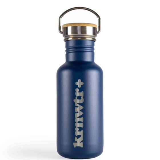 KRNWTR-rvs-Flessen-Blauw-met-logo