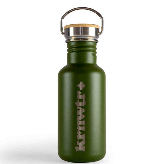 KRNWTR-rvs-Flessen-Groen-met-logo